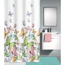 Kleine Wolke Duschvorhang Butterflies Multicolor 180 x 200 cm (Breite x Höhe)