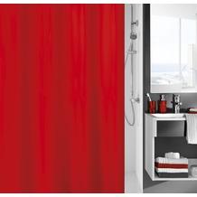 Kleine Wolke Duschvorhang Kito, Rot 180x200 cm (Breite x Höhe)
