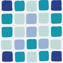 Kleine Wolke Duschvorhang Sonny, Blue 180 x 200 cm (Breite x Höhe)