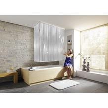 Kleine Wolke Eckduschrollo Komplett-Set Weiß 132 cm & 56 cm x 240cm