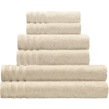 Kleine Wolke Handtuch Royal, Sandbeige Handtuch 50x100 cm