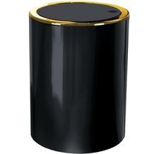 Kleine Wolke Kosmetikeimer Golden Clap, Schwarz 19x24,5x19/5 Liter