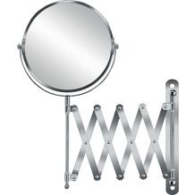 Kleine Wolke Kosmetikspiegel Move Mirror, Silber 20 x 37,5 x 2 cm
