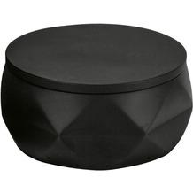 Kleine Wolke Wattedose Crackle Jar Schwarz 10,5 x 6 x 10,5 cm