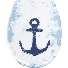 Kleine Wolke WC-Sitz Anchor, dunkelblau 37x 45 cm