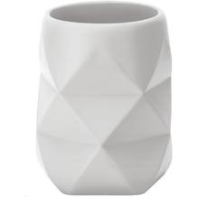 Kleine Wolke Zahnputzbecher Crackle Weiß 8x10x8
