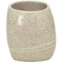 Kleine Wolke Zahnputzbecher Stones, Sandbeige
