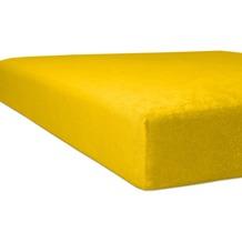 """Kneer Spannbettlaken Flausch-Frottee """"Qualität 10"""" Farbe 03 honig Bettlaken 150 x 250 cm"""