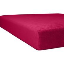"""Kneer Spannbettlaken Flausch-Frottee """"Qualität 10"""" Farbe 49 burgund Bettlaken 150 x 250 cm"""