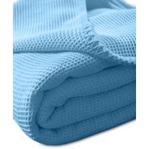 "Kneer Pique-Decke La Diva Maison ""Qualität 91"" Farbe 36 blau Pique-Decke 150/210 cm"