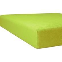 """Kneer Spannbetttuch Flausch-Biber """"Qualität 80"""" Farbe 54 limone 140/200 - 160/200 cm"""
