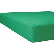 "Kneer Spannbetttuch Flausch-Biber ""Qualität 80"" Farbe 60 smaragd 140/200 - 160/200 cm"