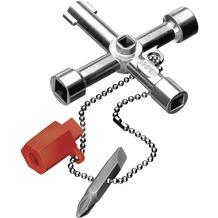 Knipex Schaltschrankschlüssel Adapter,Bit-Eins.,Schl.Kr
