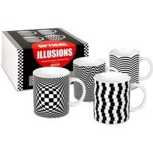 Könitz 4er Becher + Geschenkkarton Optical Illusions