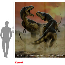 Komar Adventure Albertosauruses Fight 250 x 280 cm