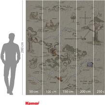 Komar Adventure Winnie Pooh Map 200 x 240 cm