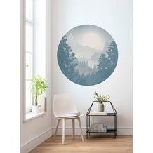 Komar Blue Valley 125 x 125 cm Fototapete Dots