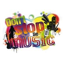 Komar Decosticker Don't stop the music 100 x 70 cm