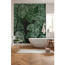 "Komar Digitaldruck Fototapete auf Vlies ""Monstera on Marble"" 200 x 250 cm"