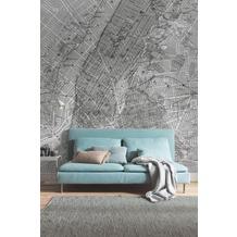 "Komar Digitaldruck Fototapete auf Vlies ""NYC Map"" 200 x 250 cm"