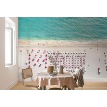 "Komar Digitaldruck Fototapete auf Vlies ""Pink Umbrella"" 400 x 250 cm"