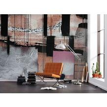 "Komar Digitaldruck Fototapete auf Vlies ""Squares Dropping"" 500 x 280 cm"