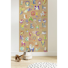 "Komar Digitaldruck Fototapete auf Vlies""Animals A-Z Panel"" 100 x 250 cm"