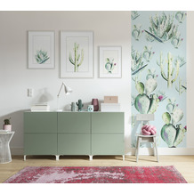 "Komar Digitaldruck Fototapete auf Vlies""Cactus Blue Panel"" 100 x 250 cm"