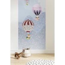"Komar Digitaldruck Fototapete auf Vlies""Happy Balloon Panel"" 100 x 250 cm"