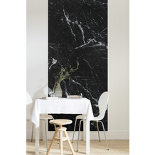 "Komar Digitaldruck Fototapete auf Vlies""Marble Nero Panel"" 100 x 250 cm"