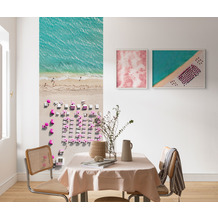 "Komar Digitaldruck Fototapete auf Vlies""Pink Umbrella"" 100 x 250 cm"