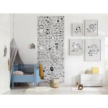 "Komar Digitaldruck Fototapete auf Vlies""Scribble Park Panel"" 100 x 250 cm"