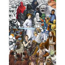 "Komar Fototapete ""STAR WARS Classic CartoonCollage"" 184 x 254 cm"