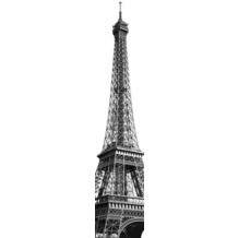 Komar Vlies Fototapete munich design book - Tour Eiffel 50 x 250 cm