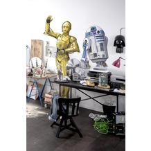 "Komar Selbstklebende Vlies Fototapete ""Star Wars XXL R2D2"" 127 x 120 cm"