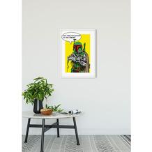 Komar Star Wars Wandbild Star Wars Classic Comic Quote Boba_Fett 30 x 40 cm