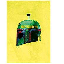 Komar Star Wars Wandbild Star Wars Classic Helmets Boba Fett 30 x 40 cm