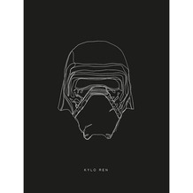 Komar Star Wars Wandbild Star Wars Lines Dark Side Kylo 30 x 40 cm