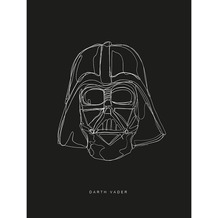 Komar Star Wars Wandbild Star Wars Lines Dark Side Vader 30 x 40 cm