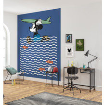 Komar Vlies Fototapete Disney Mickey gone Surfin' 200 x 280 cm