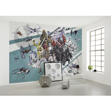 Komar Vlies Fototapete Star Wars Cartoon Collage Wide 400 x 280 cm