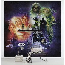 Komar Vlies Fototapete Star Wars Classic Poster Collage 250 x 250 cm