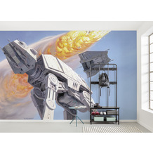 Komar Vlies Fototapete Star Wars Classic RMQ Hoth Battle AT-AT 500 x 250 cm