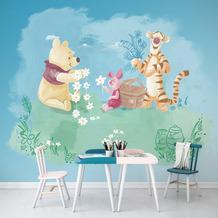 Komar Vlies Fototapete Disney Winnie Pooh Picnic 300 x 280 cm