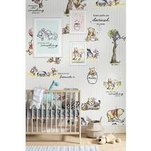 Komar Vlies Fototapete Disney Winnie Pooh - Stripes 200 x 280 cm