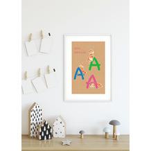 Komar Wandbild ABC Animal A 30 x 40 cm