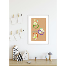 Komar Wandbild ABC Animal D 30 x 40 cm