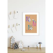 Komar Wandbild ABC Animal N 30 x 40 cm