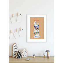 Komar Wandbild ABC Animal W 30 x 40 cm