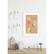 Komar Wandbild ABC Animal X 30 x 40 cm